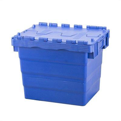 Kunststoffbehälter, 31 l, stapelbar, nestbar, Klappdeckel, 400x300x365mm