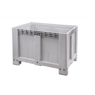 Palettenbox, 525 Liter, geschlossen, 4 Füße, 1200x800x800mm