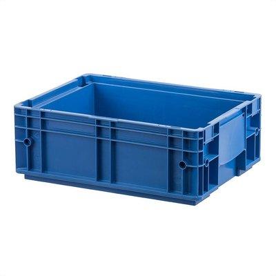 RL-KLT Behälter 4147, glatter Boden, 8 Ablauflöcher, 17,35 l, blau, 396x297x147,5mm
