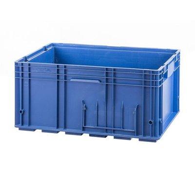RL-KLT Behälter 6429, geschlossener Boden mit Verrippung, verstärkte Wände, blau, 594x396x280mm