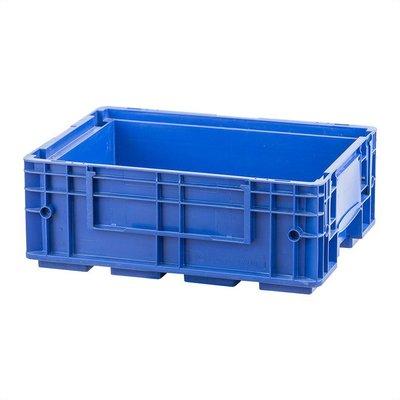 RL-KLT Behälter 4315, geschlossener Boden mit Verrippung, verstärkte Wände, blau, 396x297x147,5mm