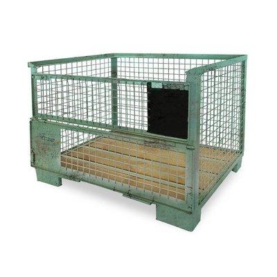 EPAL DB Gitterbox, gebraucht, UIC Norm 435-2, klappbare Beladeöffnung, 1240x835x970mm