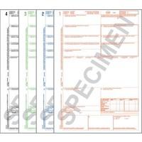 CMR Frachtbrief 1234 für Laserdrucker, 4-fach Satz, ohne Nummerierung