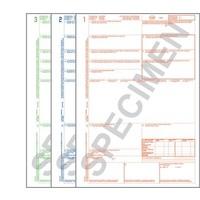 CMR Frachtbrief 123 für Laserdrucker, 3-fach Satz, ohne Nummerierung