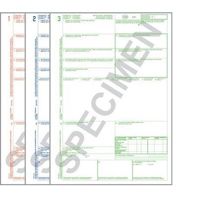 CMR Frachtbrief 321 für Laserdrucker, 3-fach Satz, ohne Nummerierung