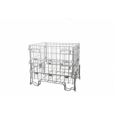 Drahtgitterbox, faltbar, galvanisch verzinkt, 300 kg, 800x600x700mm