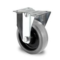 Bockrolle, 125mm Durchmesser, Kugellager, PA / Gummi