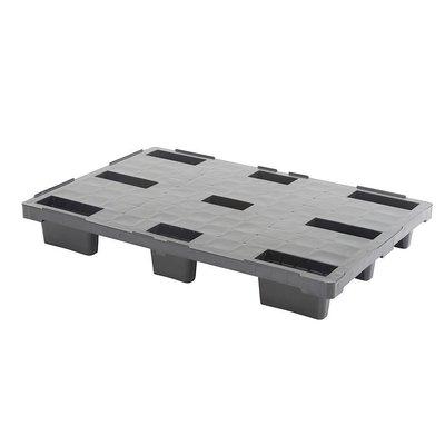 Palet de plástico encajable 1140x760x155mm plataforma cerrada