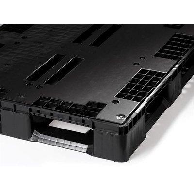 Palet de plástico pesado 1200x1000x160mm plataforma cerrada