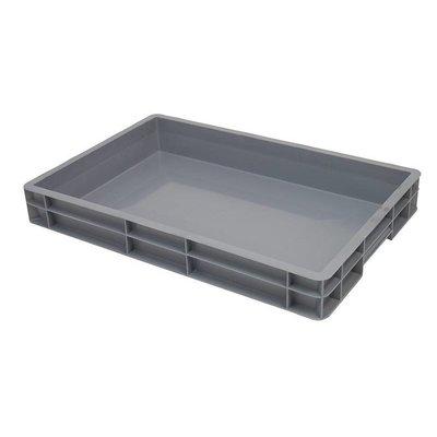 Caja apilable Euronorm 600x400x80mm lisa