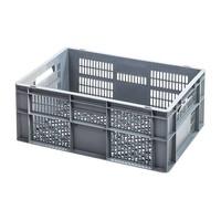 Caja apilable Euronorm 600x400x240mm rejilla