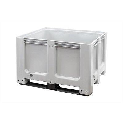 Cajón de plástico 1200x1000x760mm 3 patines