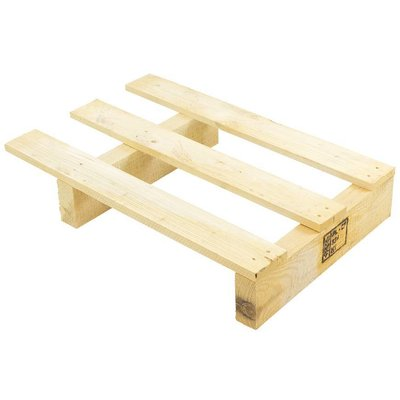 Palet de madera de expositor 600x400x107mm