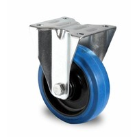 Rueda fija Ø 100mm rodamiento bola y rodadura PA/Rubber