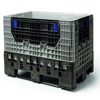 Cajón de plástico plegable 1200x800x975