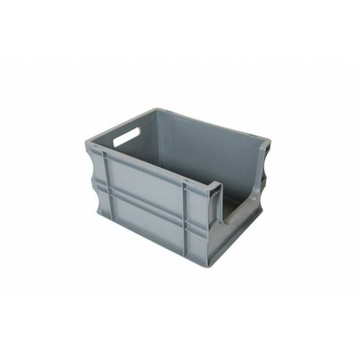 Caja apilable Euronorm 400x300x235mm con agarre abierto