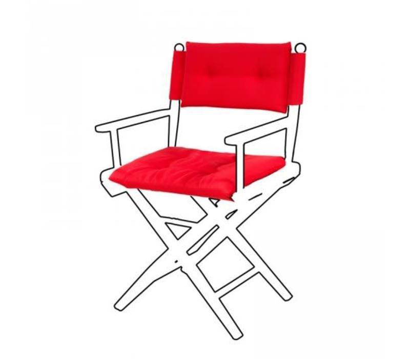 Deluxe kussens voor regisseursstoel I - forza rood