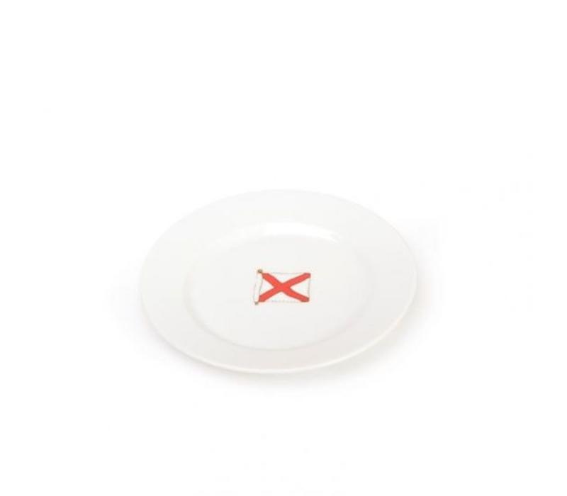 Seahouse - bord V ø 19 cm