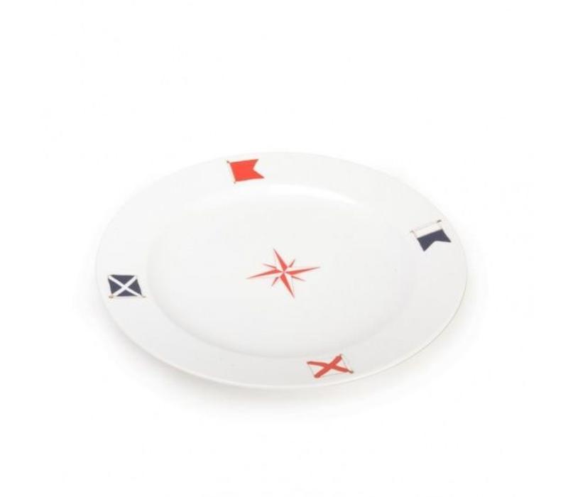 Seahouse - bord Red Compass ø 31 cm