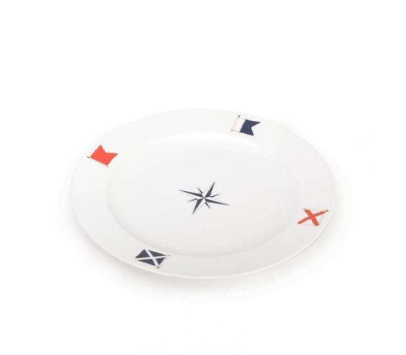 Seahouse - bord Blue Compass ø 31 cm