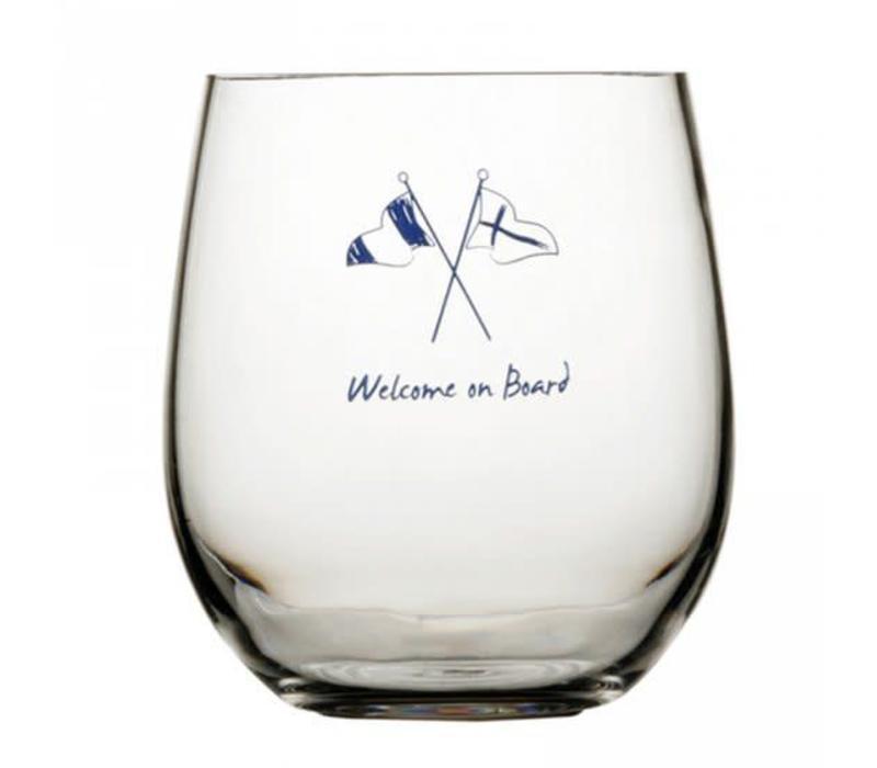 Welcome on Board - Groot drinkglas - H 13 cm