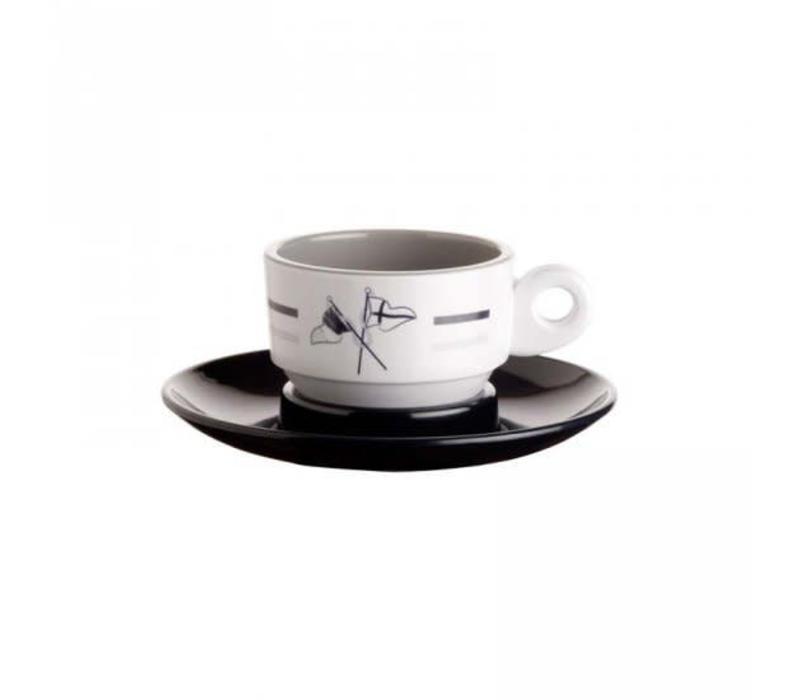 Welcome on Board - Espressokop met schotel - H 4.7 cm