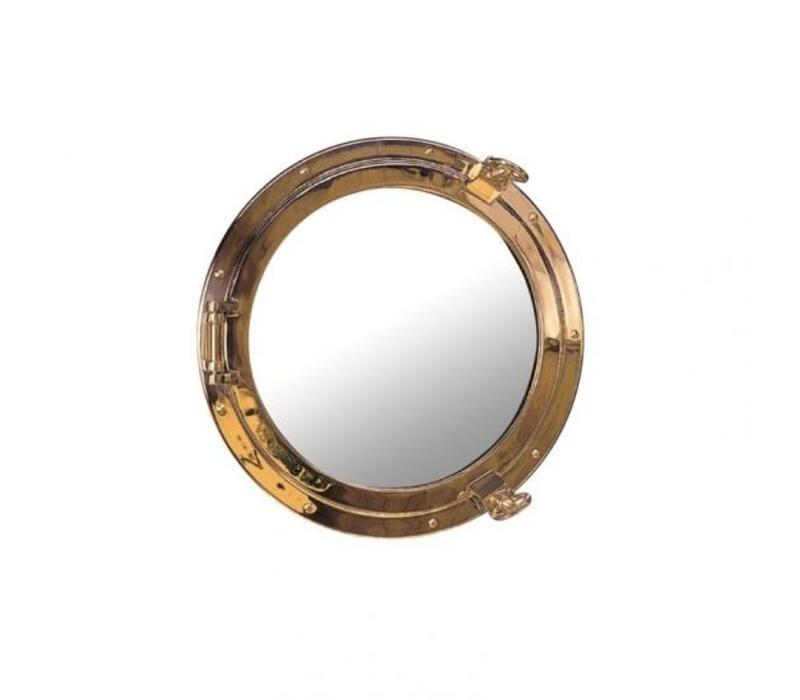 Patrijspoort spiegel messing ø 18 cm