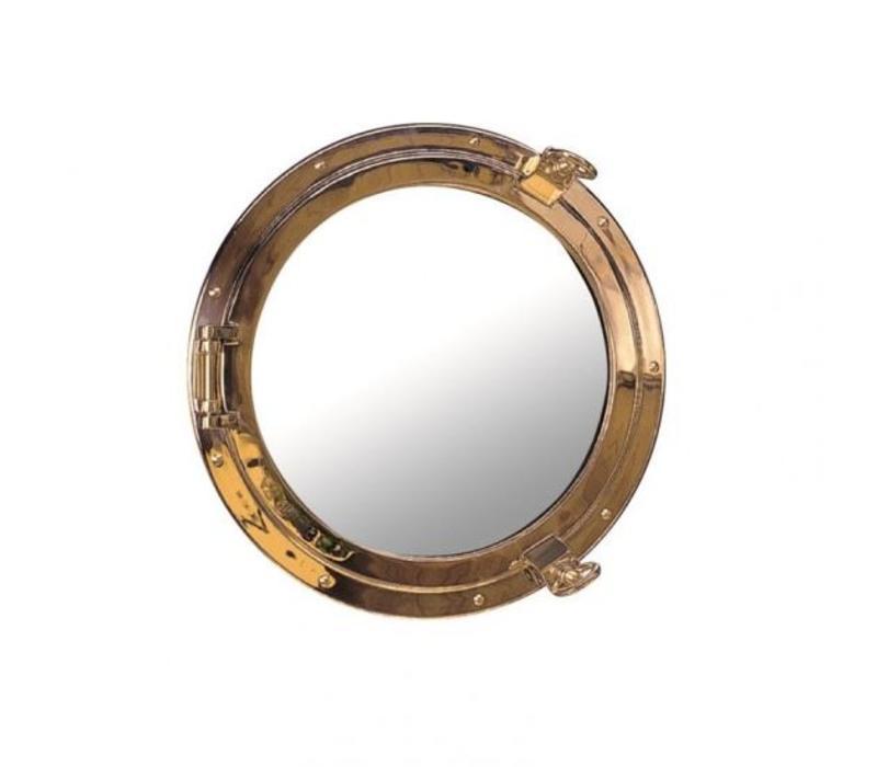 Patrijspoort spiegel messing ø 26 cm