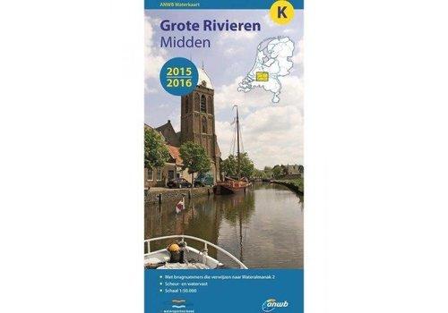 Waterkaart Grote Rivieren Midden - K