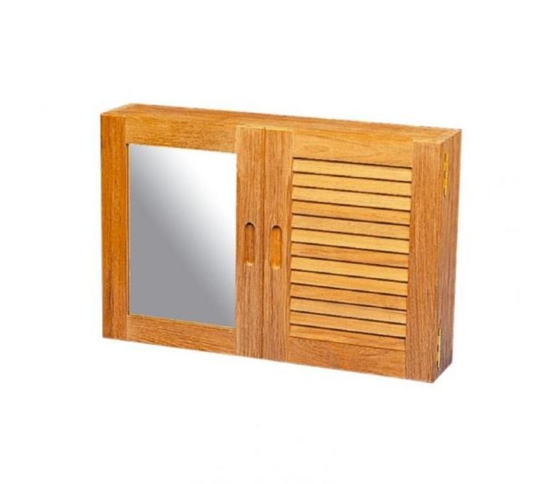 Kast met louvre en spiegel deur