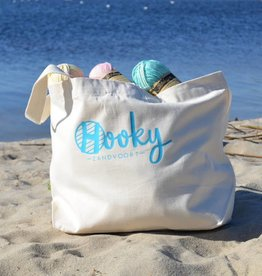 Strandtas Organic Cotton 'Crochet by the Ocean'