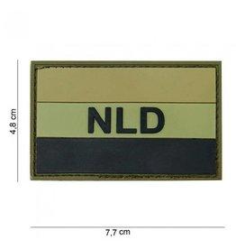 101 inc Embleem 3D PVC NLD groen/zwart