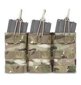 Warrior Assault Systeem Tripple M4 Molle Open M4 5.56mm Mag Pouch / bungee Retention div kleuren W-EO-TMOP-5.56