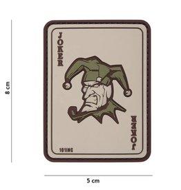 101 inc Joker PVC patch coyote