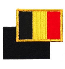 101 inc Embleem stof vlag Belgie met klitteband