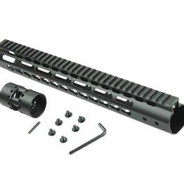 "Camaleon Free Float NSR 10"" Handguard One-piece Top Rail System KeyMod AR-15"