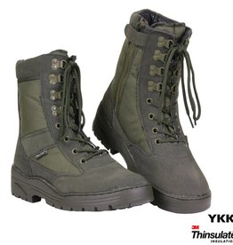 101 inc Pr. sniper boots WITH YKK ZIPPER Groen