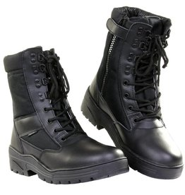 101 inc Pr. sniper boots WITH YKK ZIPPER Zwart