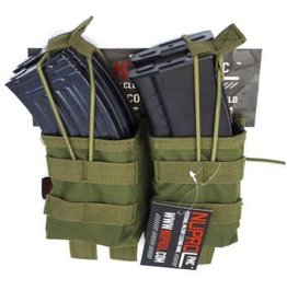 Nuprol PMC AK Double Open Mag Pouch - OD