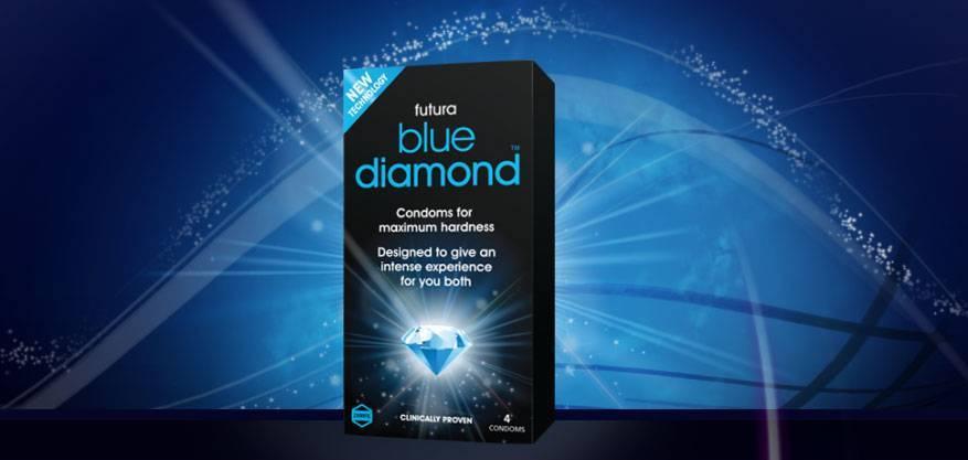 Blue Diamond condooms voor een hardere erectie