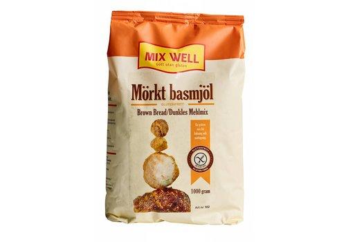 Mixwell Broodmix Bruin 102 (morkt basmjol)