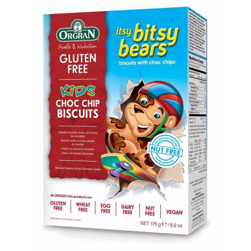 Orgran Itsy Bitsy Bears Choc Chip Biscuits (THT 25-12-2018)