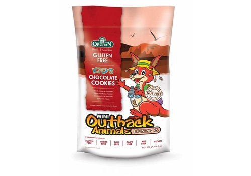 Orgran Mini Outback Animals Chocolate Cookies Multipack (THT 14-11-2018)