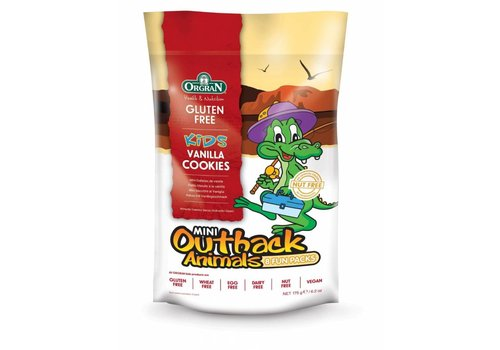 Orgran Mini Outback Animals Vanilla Cookies Multipack