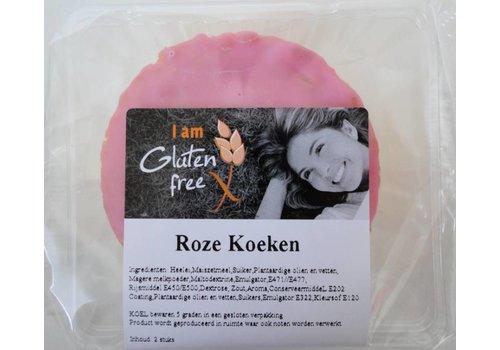 I am glutenfree Glutenvrije Roze Koeken (2 stuks)