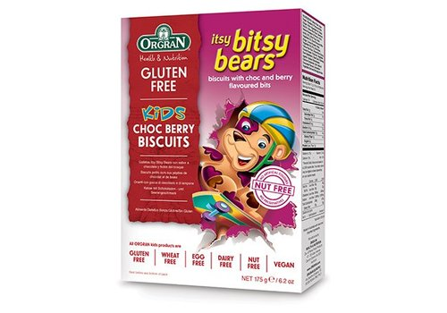 Orgran Itsy Bitsy Bears Choc Berry Biscuits