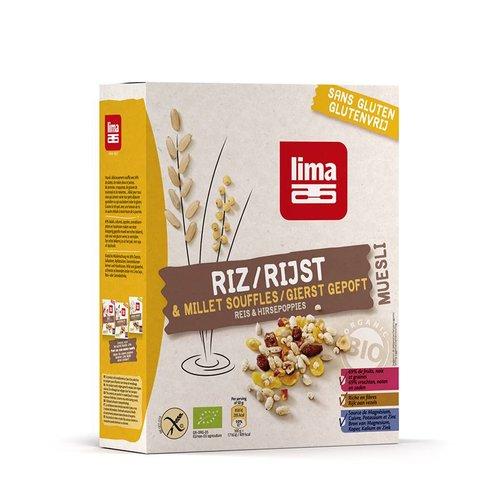 Lima Muesli van gepofte Rijst en Gierst Biologisch