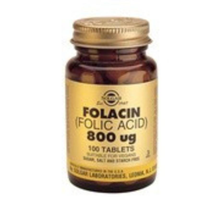 Folacin 800 µg (Foliumzuur) (100 tabletten)