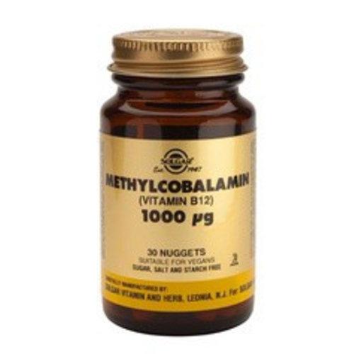 Solgar Methylcobalamin 1000 µg (vitamine B-12) (30 kauwtabletten)