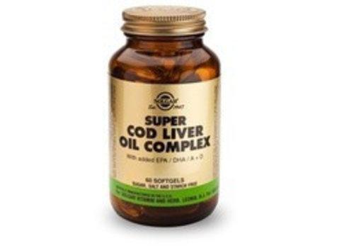 Solgar Super Cod Liver Oil Complex (Levertraan met extra omega-3) (60 softgels)